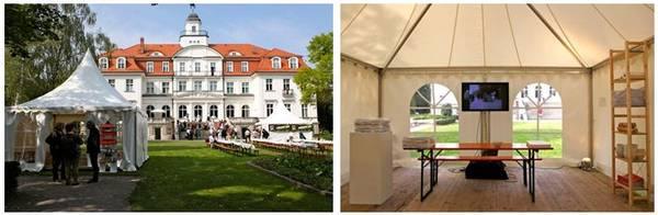 AMBULANZ-Zelt im Schlosspark Genshagen - Fotos: Inge Luttermann